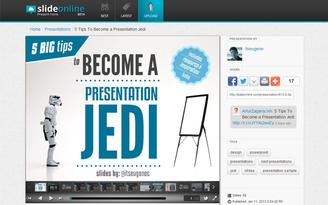 Cómo Publicar un PowerPoint en Blog WordPress con SlideOnline
