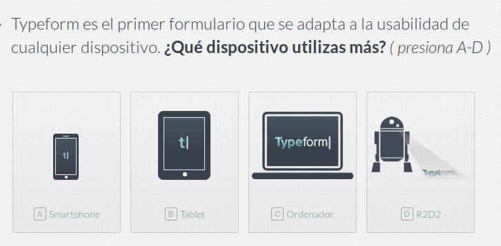 formulario con typeform