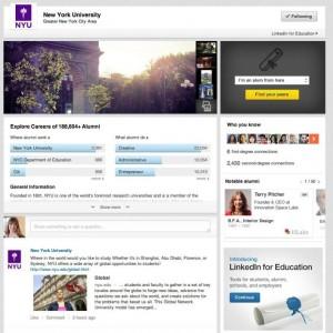 Páginas Universidad LinkedIn