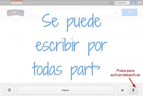 escritura manual gmail