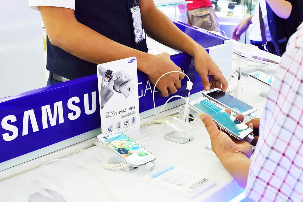 Samsung, smartphone, tienda