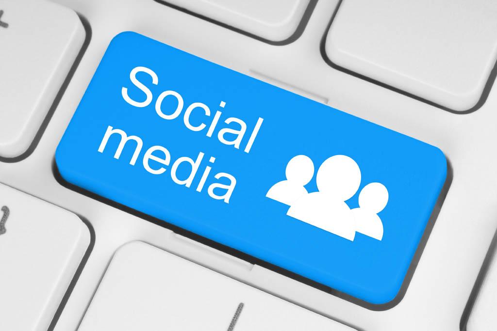 social media, teclado
