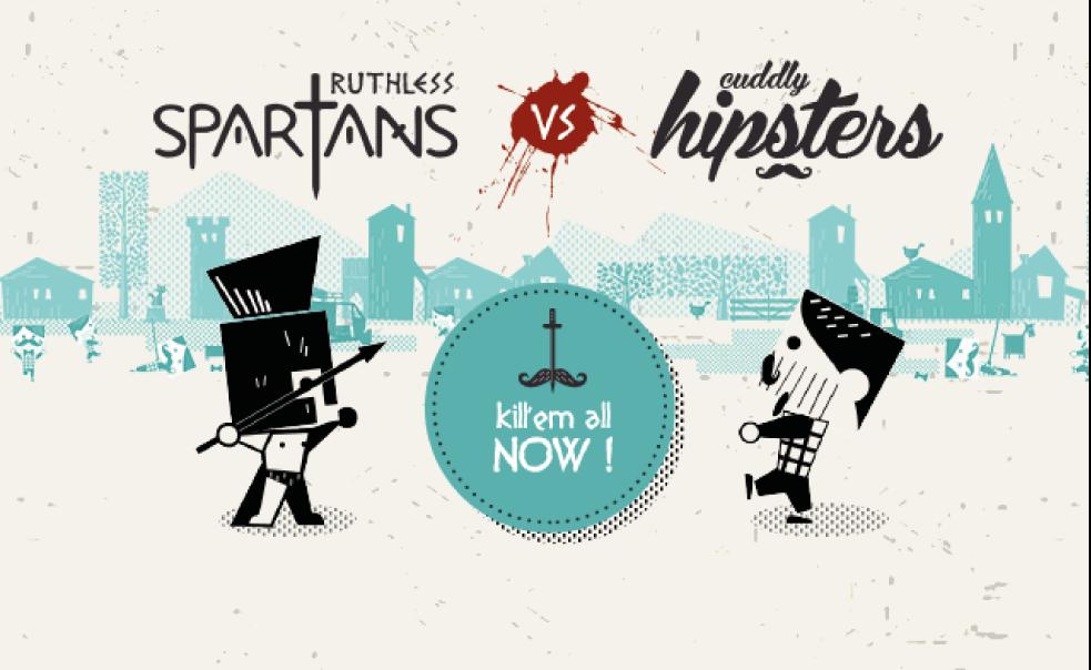 Espartanos vs Hipsters... ¡Ser Hipster es muy mainstream ...