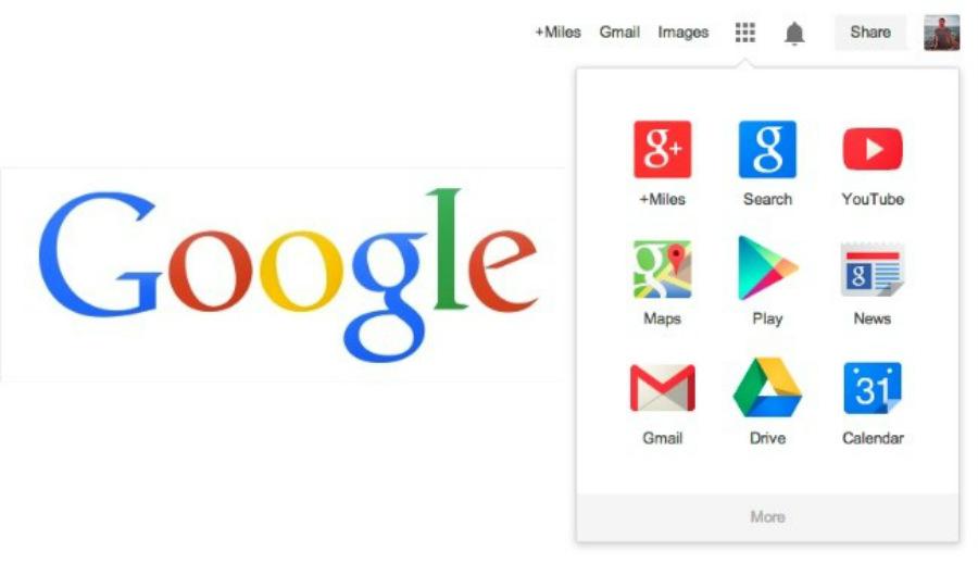 google app bar
