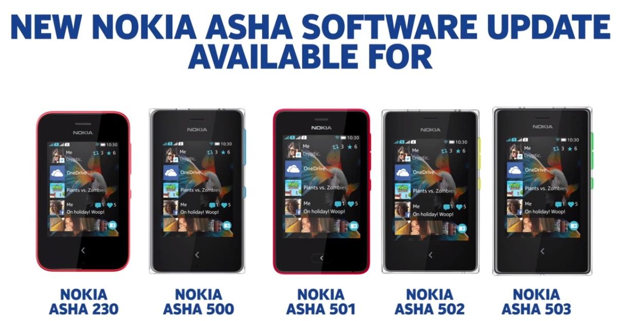 Nokia Asha Line Update