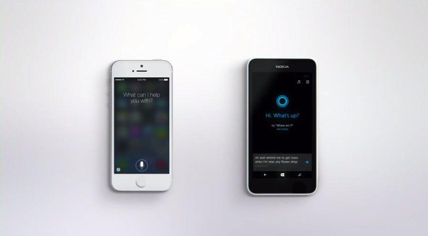 Cortana vs Siri video Microsoft
