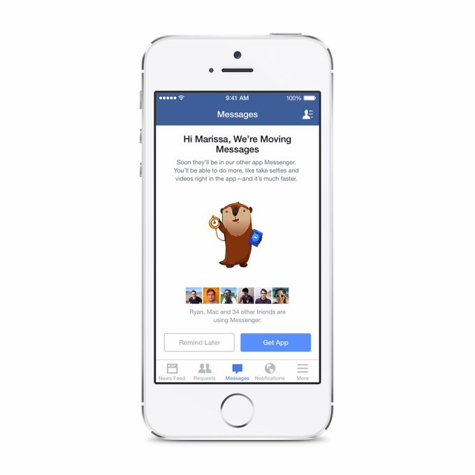Facebook Messenger obligacion