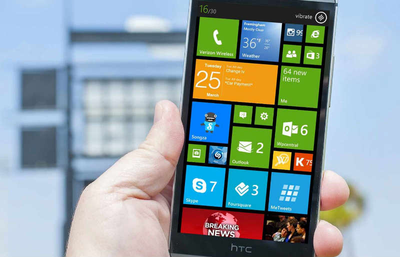 HTC One m8 Windows Phone2