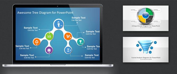 diagramas profesionales para presentaciones de powerpoint social geek