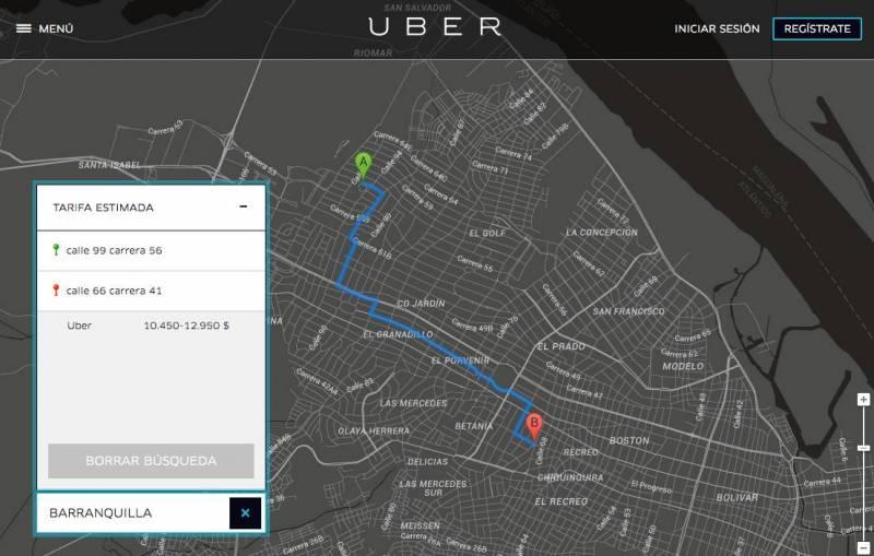 uber llega a barranquilla