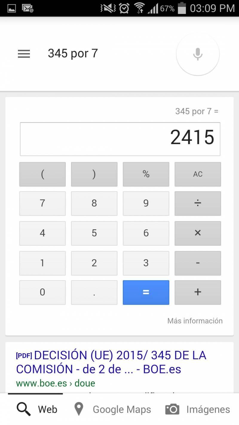 Google Now Calculadora