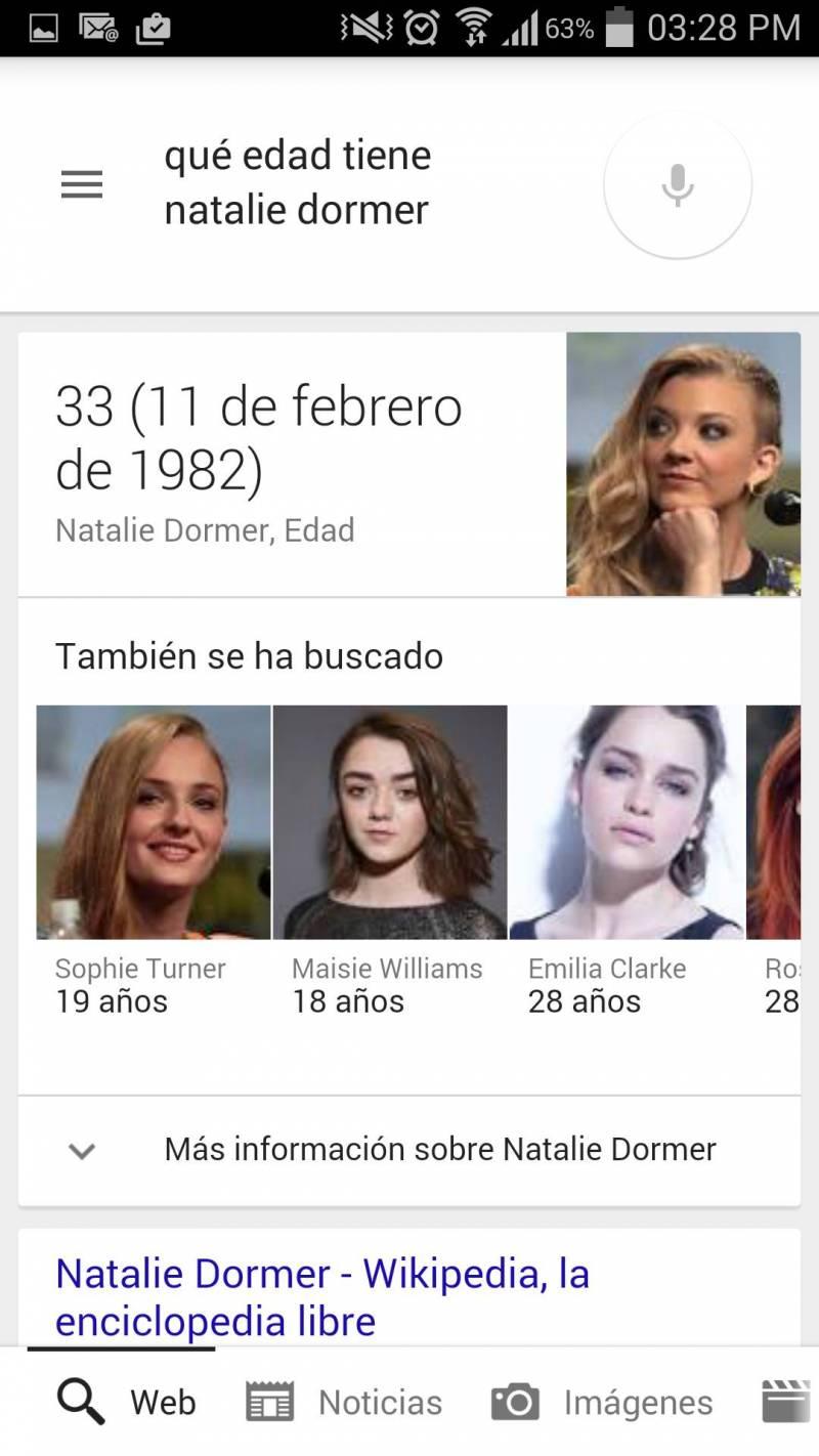 Google Now Edad