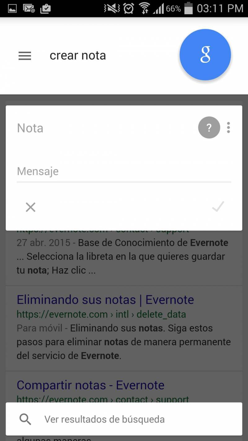 Google Now Notas
