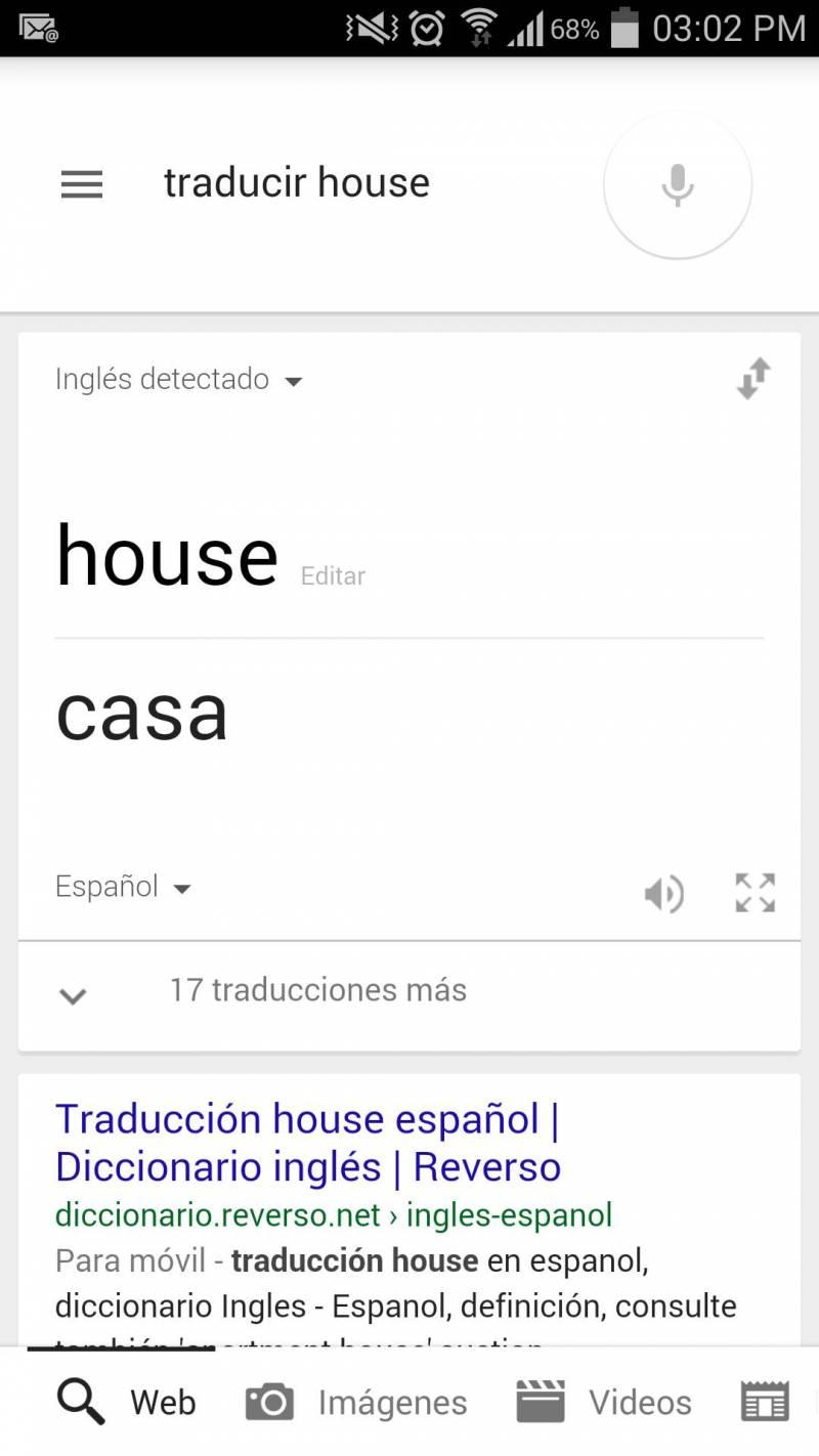 Google Now Traduccion