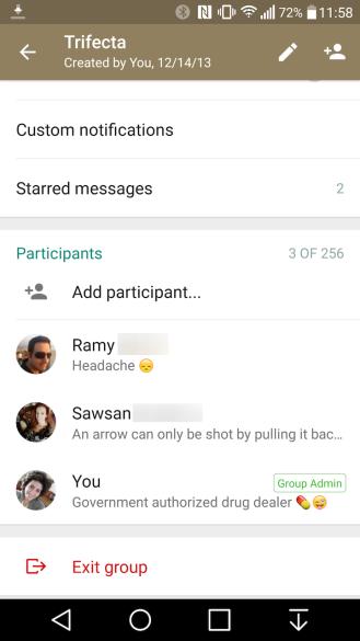 WhatsApp abandonar grupo