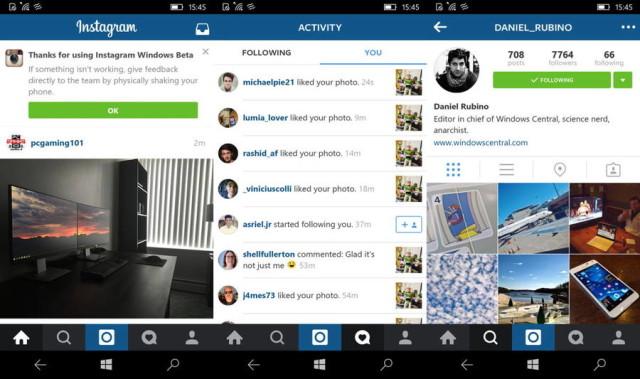 instagram beta windows 10
