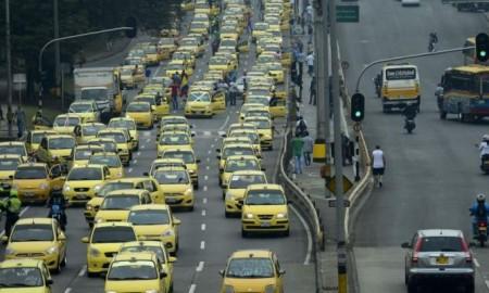 taxis protesta contra uber