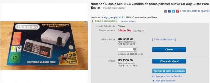 Búsqueda en eBay demuestra el alto precio actual de la consola