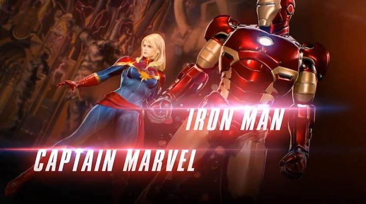 Iron Man y Captain Marvel