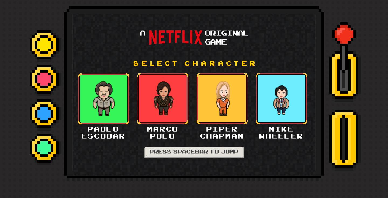 Pablo Escobar y Piper Chapman, los personajes del videojuego de Netflix