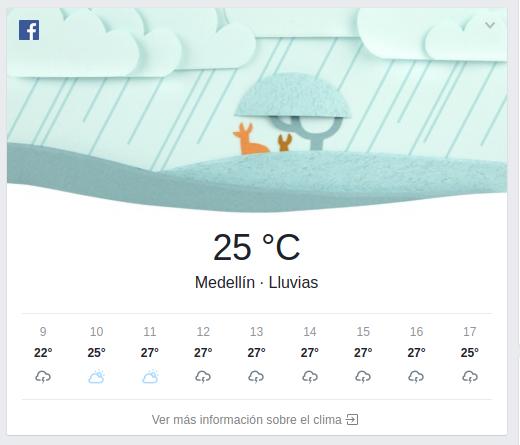 Facebook ahora ofrecer completas prediciones del clima - Temperatura terrassa ahora ...