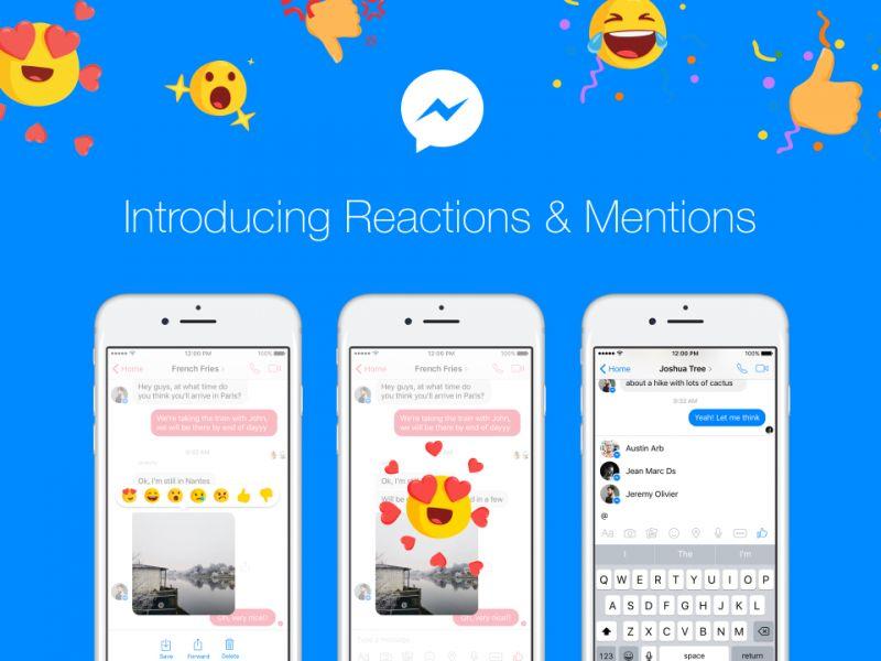 Los Likes y las Reacciones llegan a Facebook Messenger