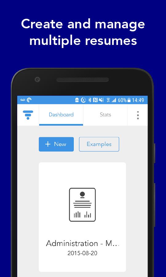 VisualCV hoja de vida smartphone