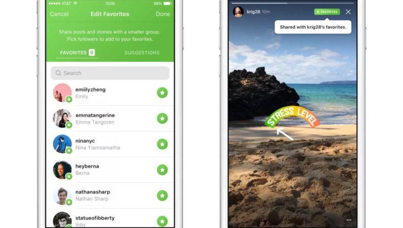Instagram crea un filtro para compartir contenido solo con los amigos favoritos