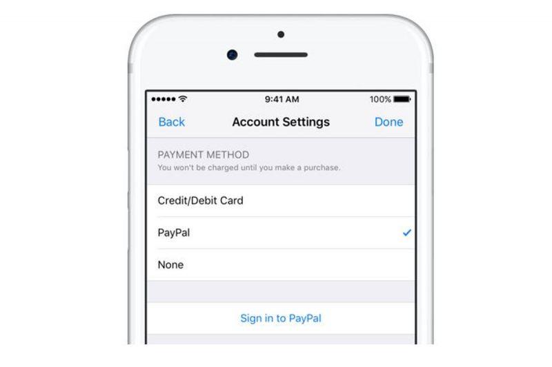 Apple ya permite la opción de pago a través de PayPal