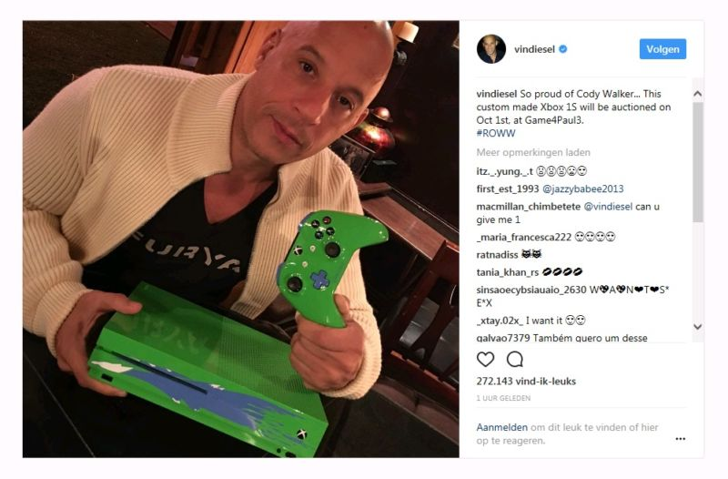 Microsoft lanza una Xbox One especial en honor a Paul Walker