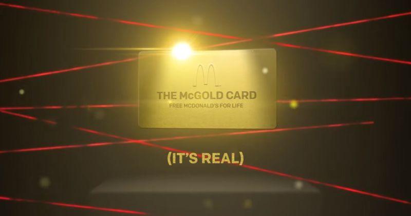 McDonald's sortea 'tarjeta dorada' para consumir comida gratis de por vida