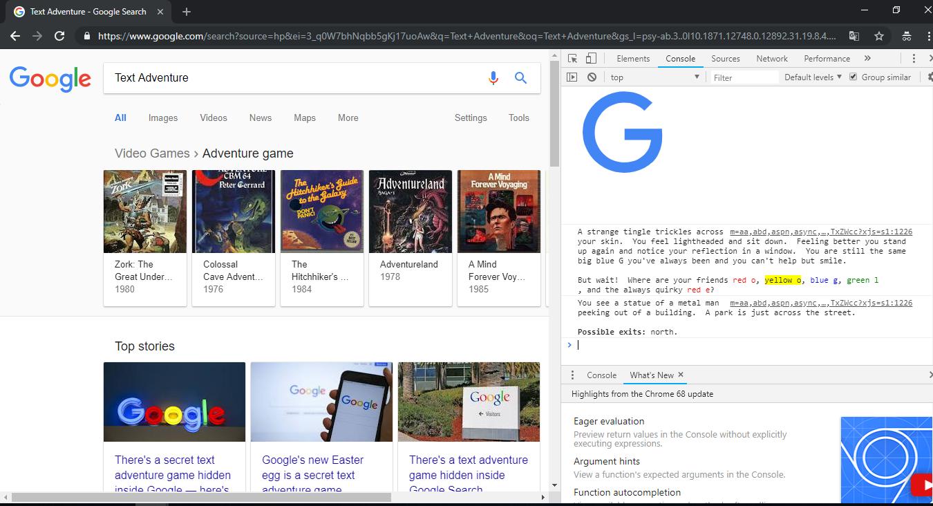 Descubren misterioso juego que Google tenía escondido en su código